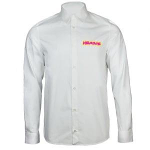Versus Versace Neon Print Shirt in White