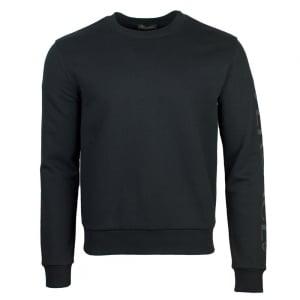 Versus Versace Underwear Sleeve Logo Sweatshirt in Black