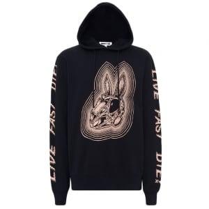 Orange Bunny Sweatshirt in Black