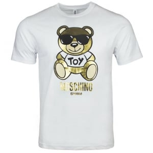 Moschino Swim Bear Toy T-Shirt in White