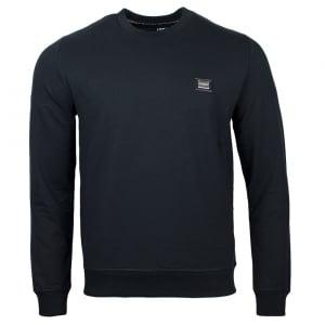 Love Moschino Metal Crest Logo Sweatshirt in Black