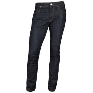 Love Moschino Metal Logo Jeans in Dark Wash