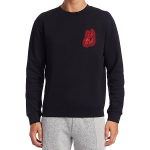 Mcq Red Bunny Sweatshirt in Black