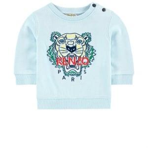 2-4 Years Tiger Sweatshirt in Sky Blue