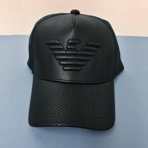 Emporio Armani Debossed Cap in Black