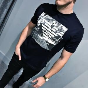 Emporio Armani Paris T-shirt in Navy