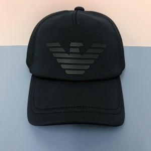 Emporio Armani Big Eagle Cap in Navy