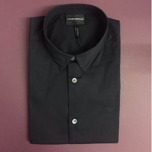 Emporio Armani Core Short Sleeve Shirt in Black