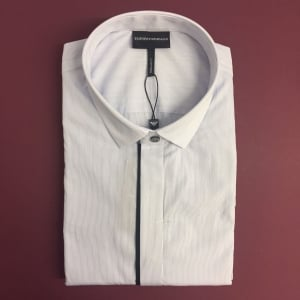 Emporio Armani Mini Stripe Shirt in Light Blue
