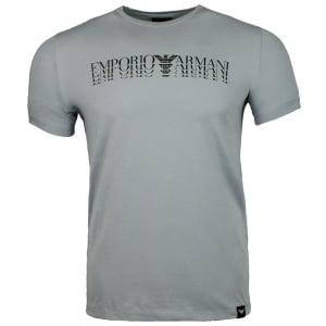 Emporio Armani 4 Logo T-Shirt in Grey