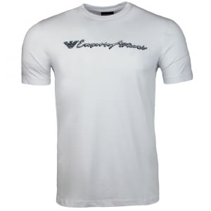 Emporio Armani Handwritten Logo T-Shirt in White