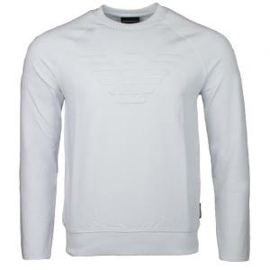 Emporio Armani Eagle Chest Logo Sweatshirt in White