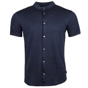 Emporio Armani Silk Touch Polo Shirt in Navy
