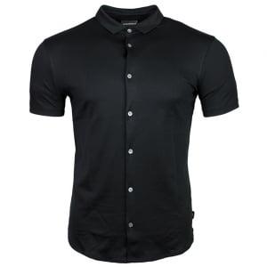 Emporio Armani Silk Touch Shirt in Black