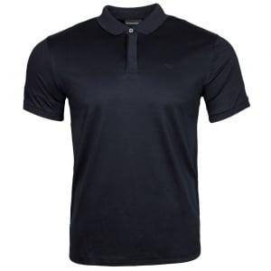 Emporio Armani Jersey Polo Shirt in Navy