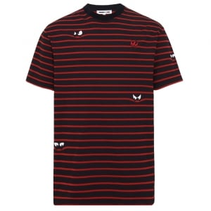 Stripe Monster T-Shirt in Red