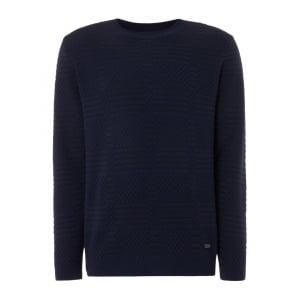 Knitted Sweatshirt in Navy