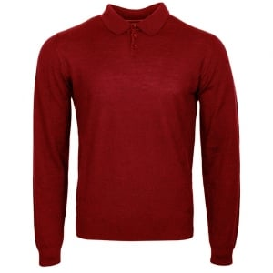 Knitted Polo in Red