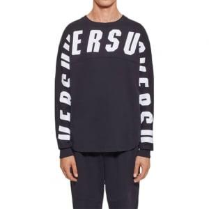 Chest Sweatshirt in Black