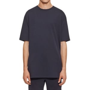 Zip Side Detail T-Shirt in Black
