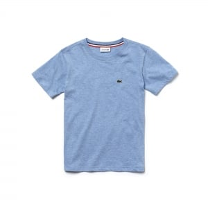 Lacoste Kids 8-12 Years Logo Tee in Baby Blue