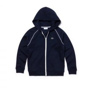 Lacoste Kids 8-12 Years Zip Sweatshirt in Navy
