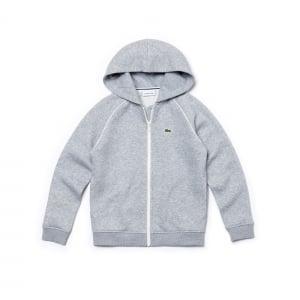 Lacoste Kids 8-12 Years Zip Sweatshirt in Grey