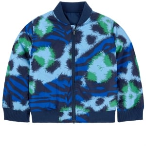 14-16 Years Dwain Reversible Bomber Jacket in Navy