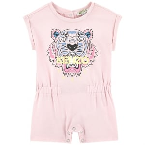 3-18 Months Baby Tiger Babygrow in Pink