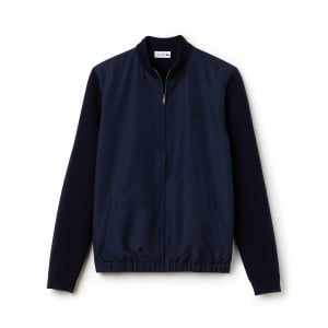Lacoste Jacket Zip Sweatshirt in Navy