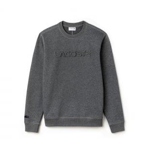 Lacoste Embossed Sweatshirt in Grey