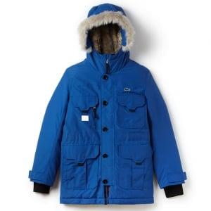 Lacoste Unisex Big Live Coat in Blue