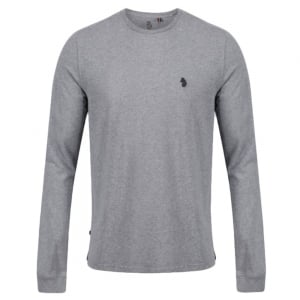 Long Sleeve Skinny Peach T-Shirt in Grey