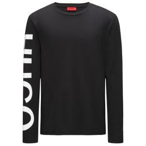Demeos Logo-Sleeve T-Shirt in Black