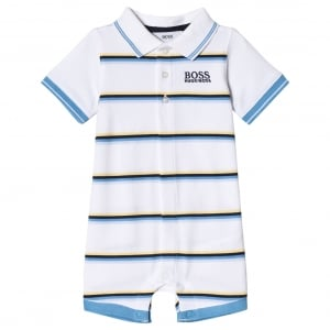 Baby Blue, Yellow and White Stripe All-in-One