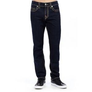 "True Religion Super T Geno 34"" Long Leg Jeans in Dark Wash"