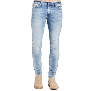 """True Religion Tony Desert Well 30"""" Short Leg Jeans in Light Wash"""