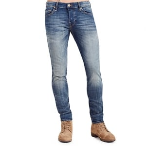 "True Religion Tony Dust 30"" Short Leg Jeans in Mid Wash"