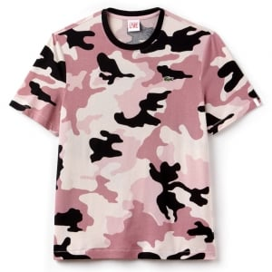 Lacoste Live Camo T-Shirt in Pink