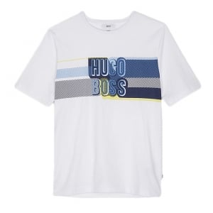 6-12 Years Print Tee in White