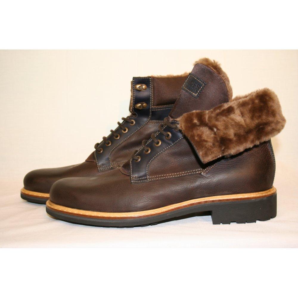 Hugo Boss Black Label Brown Mellow I Leather Fur Lined