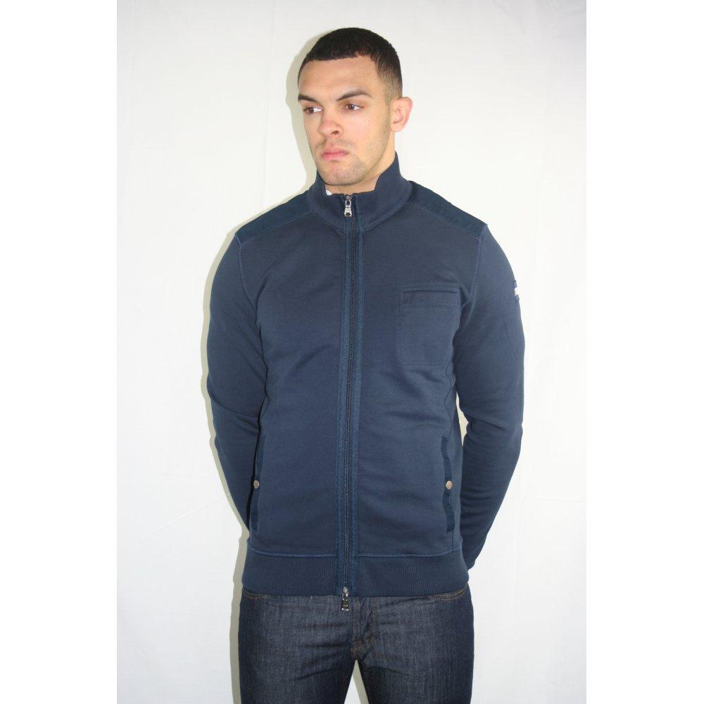 hugo boss black label bosa blue zip through jacket. Black Bedroom Furniture Sets. Home Design Ideas
