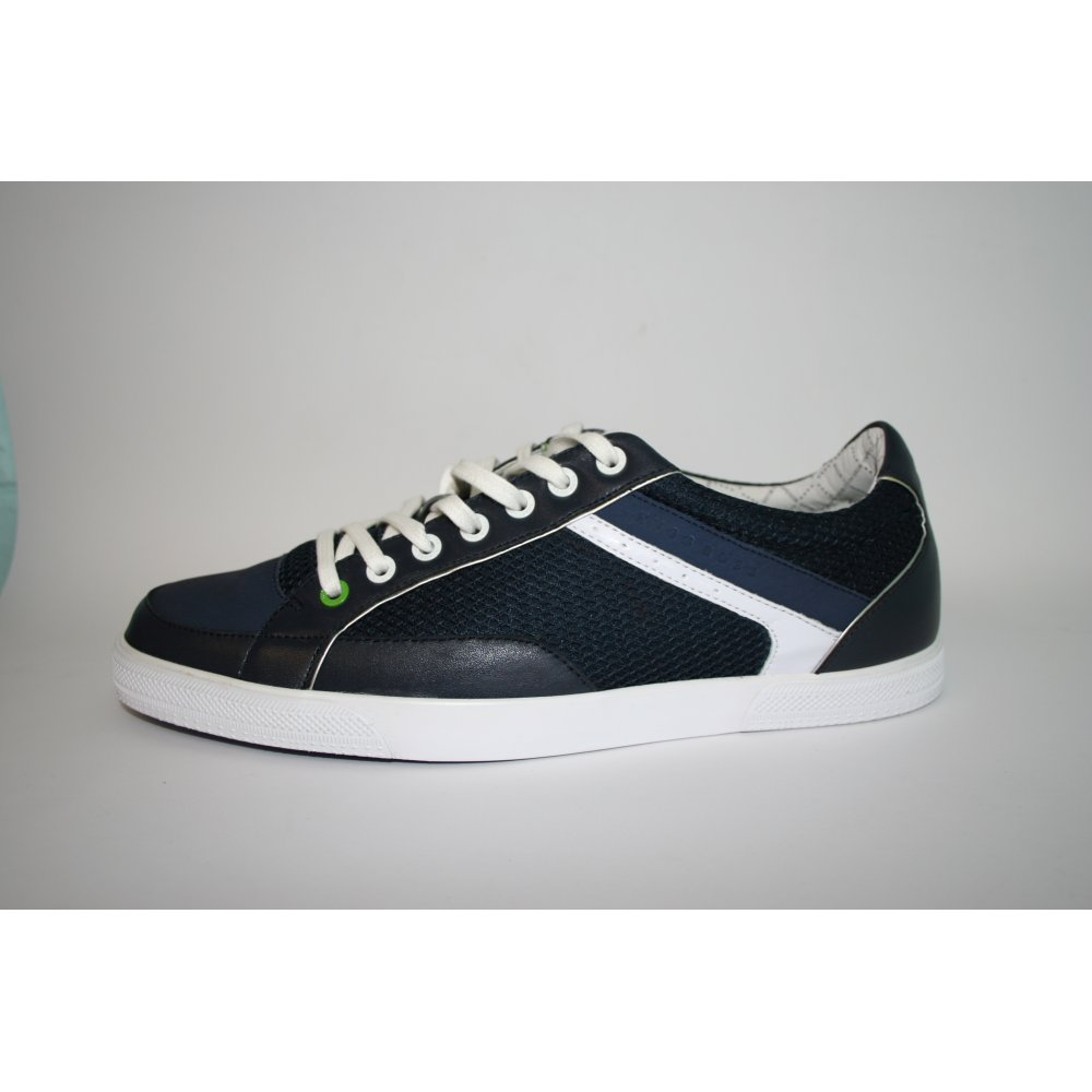 hugo boss green label apache navy trainers hugo boss green label from chameleon menswear uk. Black Bedroom Furniture Sets. Home Design Ideas