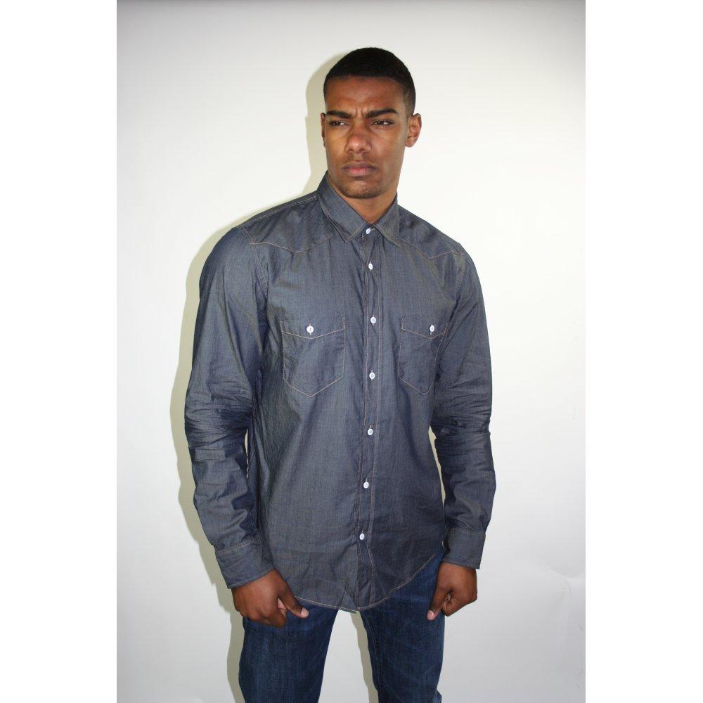 Hugo boss black label marcello blue long sleeve shirt for Black and blue long sleeve shirt