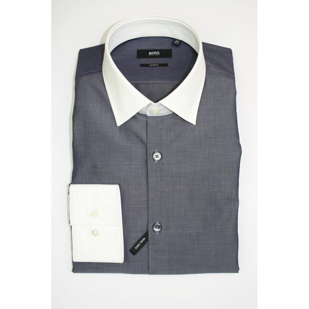 Hugo Boss Black Label Jonne Grey Formal Shirt Hugo Boss