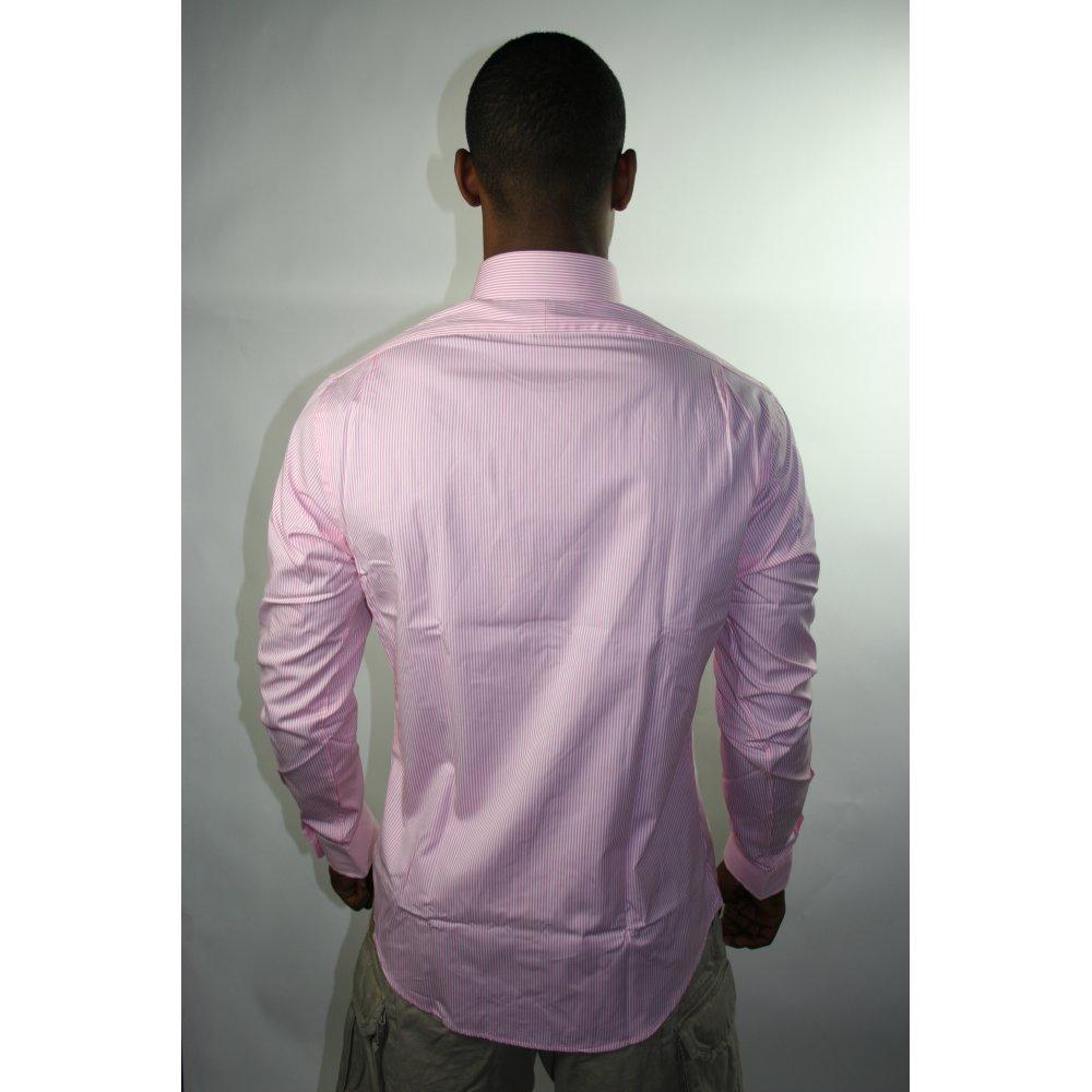Polo Ralph Lauren Light Pink Slim Fit L S Dress Shirt