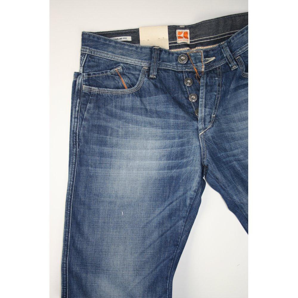hugo boss orange label blue patch 25 jeans r hugo boss orange label from chameleon menswear uk. Black Bedroom Furniture Sets. Home Design Ideas