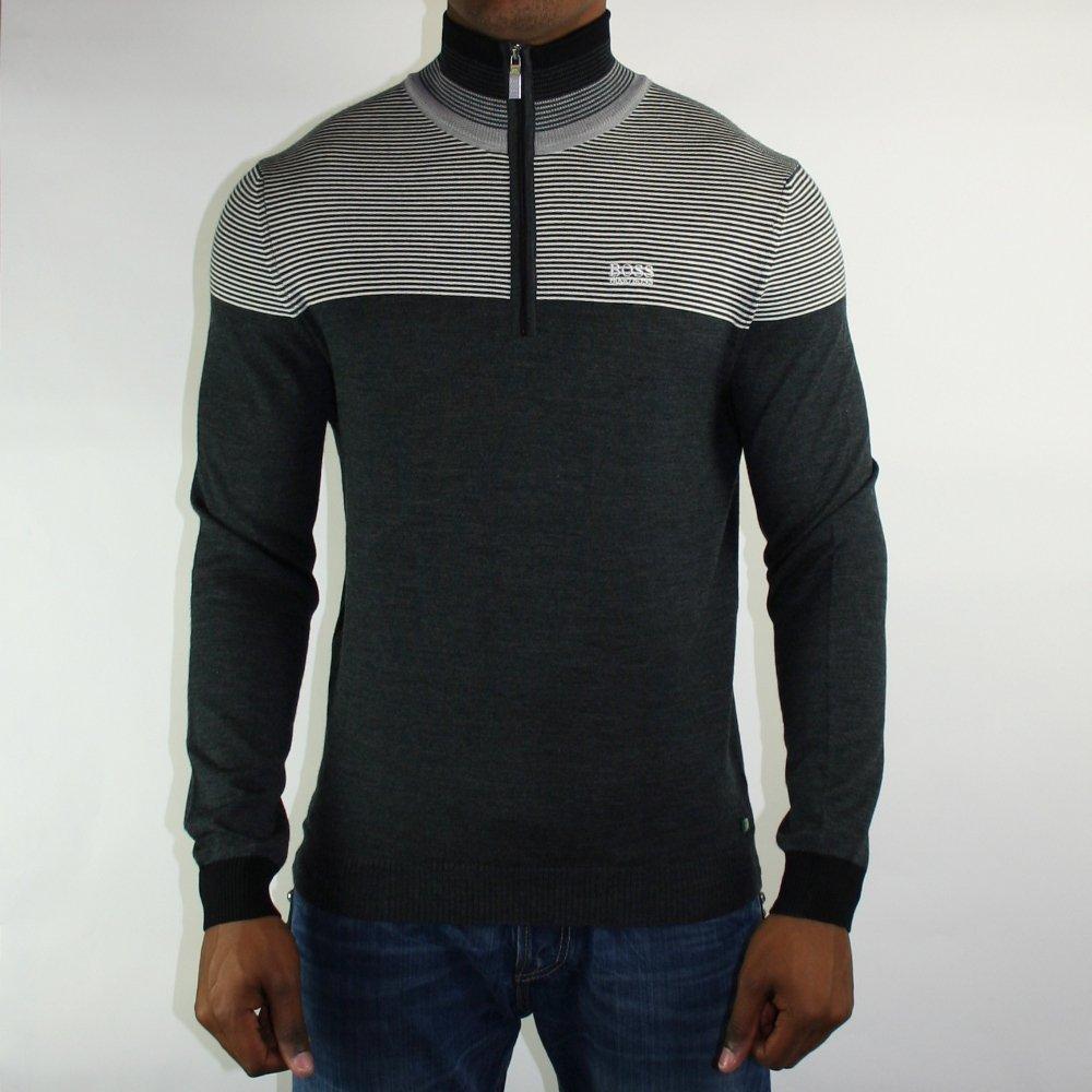 grey mens sweater hugo boss black buy mens sweater. Black Bedroom Furniture Sets. Home Design Ideas