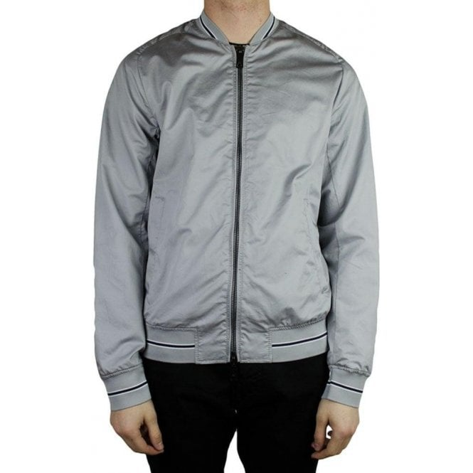 2d67e29ef3 Armani Jeans Woven Bomber Jacket in Grey