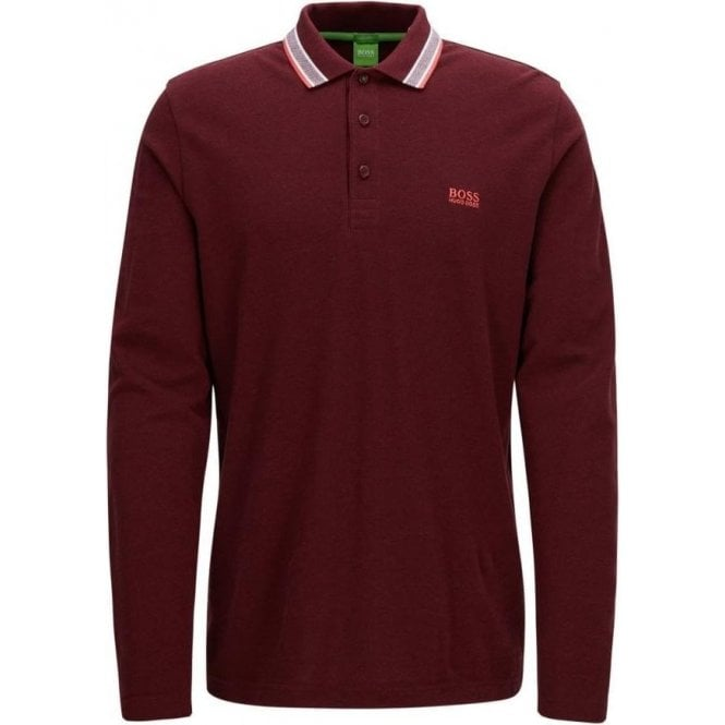 c544a9bf Boss Green|Boss Green Plisy Polo Shirt in Dark Red|Chameleon Menswear